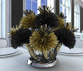 Black and Gold Centerpiece